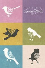 Tweet, tweet, tweet...our Lace Bird Stencils is oh so SWEET! This versatile Sweet Tweet Lace Bird Stencil Set A wall motif can be repeated randomly to create an allover wall pattern OR find it perfect