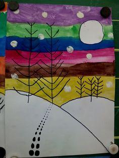 téli táj színesben