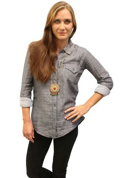 Kendra Grey Denim Shirt