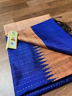 Raw silk dupion sarees Kanjivaram Sarees Silk, Elegant Fashion Wear, Saree Look, Indian Sarees, Saree Blouse, Blouse Designs, Hand Weaving, Blouses, Pure Products