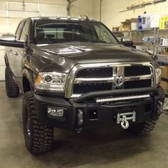 "2016 AEV 2500 Ram Salta rim on 37"" BFG KM2 tires. Awesome truck!!"