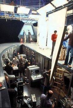 behind the scenes.  Pit on  star destroyer bridge.