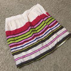 The Loft skirt Multi-colored, pleated Loft skirt. Size 0P. NWT LOFT Skirts Mini