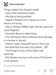 "Interesting how we all felt sad and sympathetic initially, then we slowly took a second look and realized ""wait, snape was still a jerk!"""
