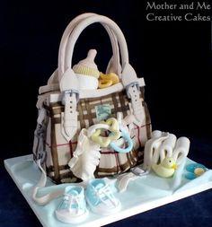 Changing Bag Baby Shower Cake