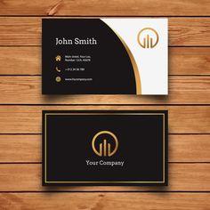 Elegant Modern Business Card Design Free Vector