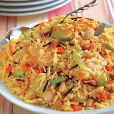 LEBANESE RECIPES: Chicken and Vegetables Rice Recipe