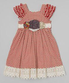 Crimson & Vanilla Delphine Party Dress - Infant, Toddler & Girls #zulily #zulilyfinds