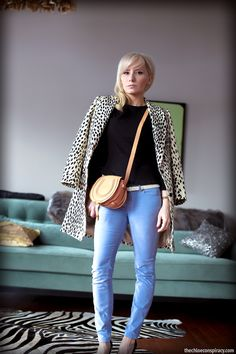 Outfit Of The Yesterday: Light Blue + Camel + Black (+ La La Leopard) | t h e (c h l o e) c o n s p i r a c y : fashion + life + style
