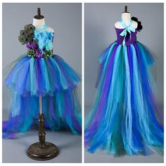 Cheap dress to wear to a beach wedding, Buy Quality gowns for little girls directly from China dress greek Suppliers: Princess Girls Peacock Party Dress Handwork Peacock Feather Baby Girls Ball Gown Trailing Dresses For Photo pro