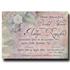 Bridal Shower Invitation - Vintage Bridal shower, rustic bridal shower, purple bridal shower, printable invitation