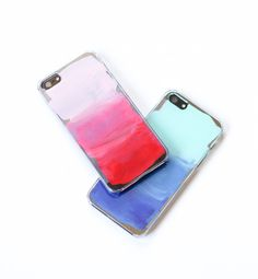 Painterly iPhone Cases - 52 Weeks Project paint your own iPhone case tutorial (would make a nice gift too) Need: clear iphone case (Amazon) 3 acrylic paint colors paintbrush
