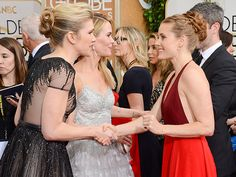 Lily Rabe, Sarah Paulson, and Amy Adams arrive at the annual Golden Globe Awards. Photo by Jordan Strauss/Invision/AP American Hustle, American Horror Story, Golden Globe Award, Golden Globes, Amy Adams, Girl Pictures, Girl Pics, Best Actress, Red Carpet Fashion
