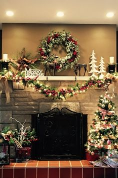 christmas mantel decorating ideas on the cheap 24 decomagz - Christmas Fireplace Decorating Ideas