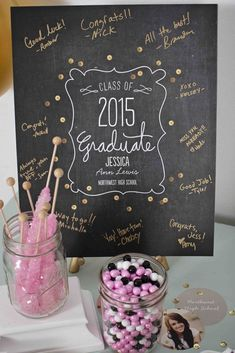 Pink & Gold Graduation Party Pink & Gold Graduation Party via Kara's Party Ideas Pink Graduation Party, Graduation Party Planning, Graduation Open Houses, College Graduation Parties, Graduation Celebration, Graduation Party Invitations, Grad Parties, Graduation Gifts, Graduation Ideas