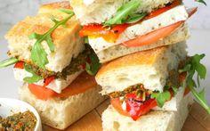 Mediterranean Summer Sandwiches: Marinated Tofu and Sun-Dried Tomato Pesto on Ciabatta [Vegan, Gluten-Free]   One Green Planet