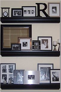 Wall Decor we need in the living room. I saw similar shelves recently at Target for $15.
