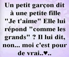 Un petit garçon dit à une petite fille Quotes For Book Lovers, Quotes To Live By, Love Quotes, Funny Quotes, Inspirational Quotes, Chocolate Lovers Quotes, Quote Citation, French Words, Popular Quotes