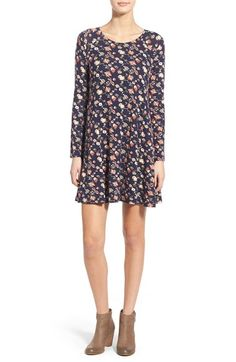 Free shipping and returns on Lush 'Lauren' Long Sleeve Shift Dress at Nordstrom.com. A stretch-knit shift dress features a scooped neckline, long sleeves and a swingydesign that dresses up or down with ease.