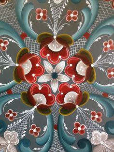 """In this video, Linnea Rose teaches us how to paint in a Norwegian folk style called """"rosemaling"""". Description from pinterest.com. I searched for this on bing.com/images"""