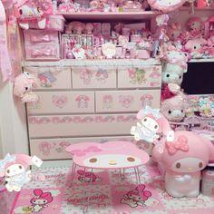 🌸 - Kawaii Homes Cute Room Ideas, Cute Room Decor, Pastel Room, Pink Room, My New Room, My Room, Kawaii Bedroom, Otaku Room, Princess Room