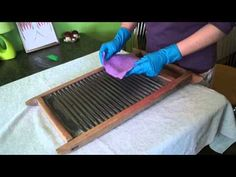 Валяние на стиральной доске(образец) - YouTube