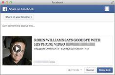 ★★★HE ESCRITO UN ARTÍCULO NUEVO: ALERTA - Un vídeo falso de Robin Williams, la nueva amenaza viral que circula por Facebook★★★  Si quieres leer el artículo http://www.seoarticulo.com/2014/08/video-falso-robin-williams.html