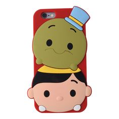 This soft and flexible silicone phone case features Pinocchio and Cricket stacked on each other in classic Tsum Tsum style. Available for iPhone 5 and iPhone 6.