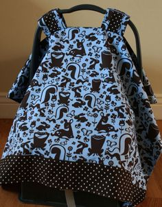 DIY: Baby car seat cover. It is so much more convenient than just using a blanket. It is cute too!
