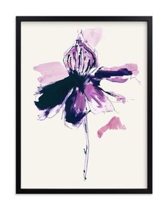 """The Garden's Purple Wonder"" - Art Print by Deborah Velasquez in beautiful frame…"