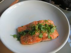 June 2013 Sriracha: Maple Glazed Salmon by Wendy.
