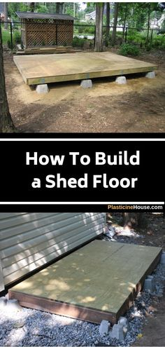 To Build a Shed Floor [Step-by-Step Guide] Lean how to build solid shed floor using this detailed step by step guide. via how to build solid shed floor using this detailed step by step guide. Solid Sheds, Future House, Architecture Renovation, Shed Construction, Firewood Shed, Build Your Own Shed, Backyard Sheds, Garden Shed Diy, Garden Shed Floor Ideas