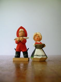 Vintage Henning Norway Fisherman / Suspicious Lady by luola