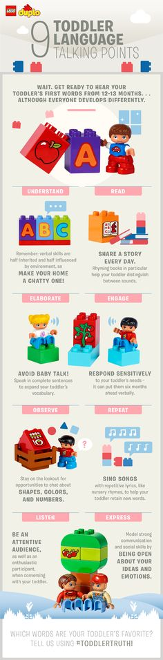All children develop differently! Some start chatting earlier than others. Here are some fun and helpful ideas on how to guide your little one along the way!
