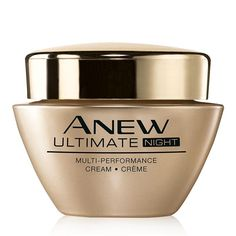 Anew Ultimate Multi-Performance Night Cream. Our great formula with celluvive complex is made to hydrate your skin and return its natural radiance immediately. Two weeks of daily application had shown a minimizing of fines lines and deep wrinkles and restores natural volume. Skin also feels and looks smoother and more resilient.