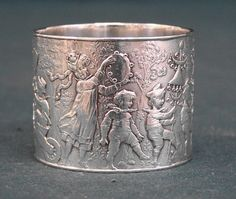 Antique Tiffany Co sterling silver childrens napkin ring c1890