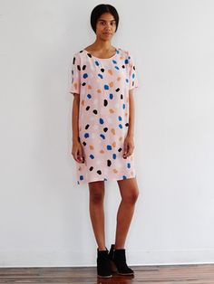 """<p><span style=""""font-size: 13px; font-family: arial,sans,sans-serif;"""" data-sheets-value=""""[null,2,""""This rock print is ready to roll. Just toss on this roomy silk dress with some black booties, and walk right out the door.""""]"""" data-sheets-userformat=""""[null,null,771,[null,0],[null,2,16573901],null,null,null,null,null,null,1,0]"""">This rock print is ready to roll. Just toss on this roomy silk dress with some black booties, and walk right out the door.</span></p> <p><span style=""""font-size: 13px; ..."""