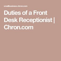 Receptionist Duties Office Stuff Office Assistant Job