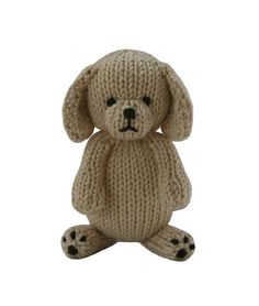 Free knitting pattern for Puppy by Knitables and more dog knitting patterns