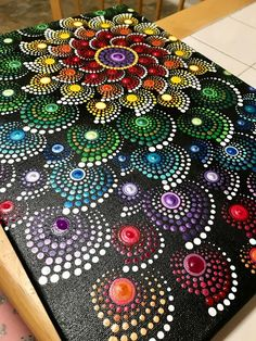 Rainbow mandala art   Etsy