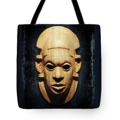 African Mask Tote Bag by Marina Grey