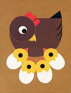 Attilio -La chioccia e i suoi pulcini Easter Arts And Crafts, Animal Crafts For Kids, Spring Crafts, Art For Kids, Diy Ostern, Farm Theme, Art N Craft, Sunday School Crafts, Art Activities