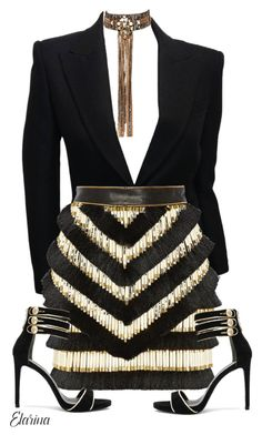 """Untitled #222"" by elarina ❤ liked on Polyvore featuring Balmain, Pierre Balmain and Begada"