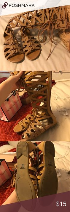 Gladiator Sandals! Great condition! Worn once & super comfy! Bought from Nasty Gal Nasty Gal Shoes Sandals
