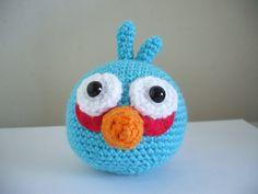 Angry Birds - Blue Bird. Free pattern PDF download.
