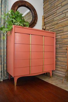 Best Girly Glam Vibe Painted Mid Century Modern Highboy 400 x 300