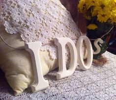I Do's letter hanging banner for Rustic by HandmadeWithHeartD