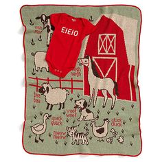 Look what I found at UncommonGoods: E-I-E-I-O Baby Set for $75.00