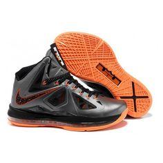 purchase cheap 87a51 aa055 Nike LeBron X Silver Black Orange G07031 Cheap Jordans, Air Jordans, Nike  Zoom,
