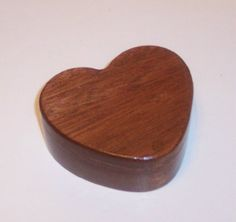 Laser Engraving On A HEART Treasure Box in Solid by tomroche, $20.00